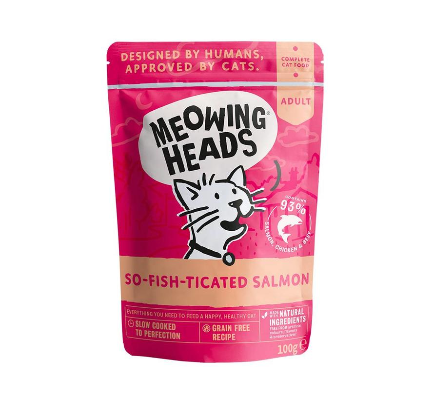 Meowing Heads Wet Salmon 100 gram
