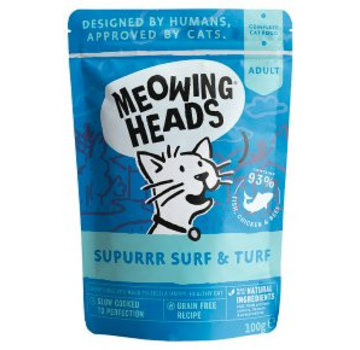 Meowing Heads Meowing Heads Wet Surf & Turf 100 gram