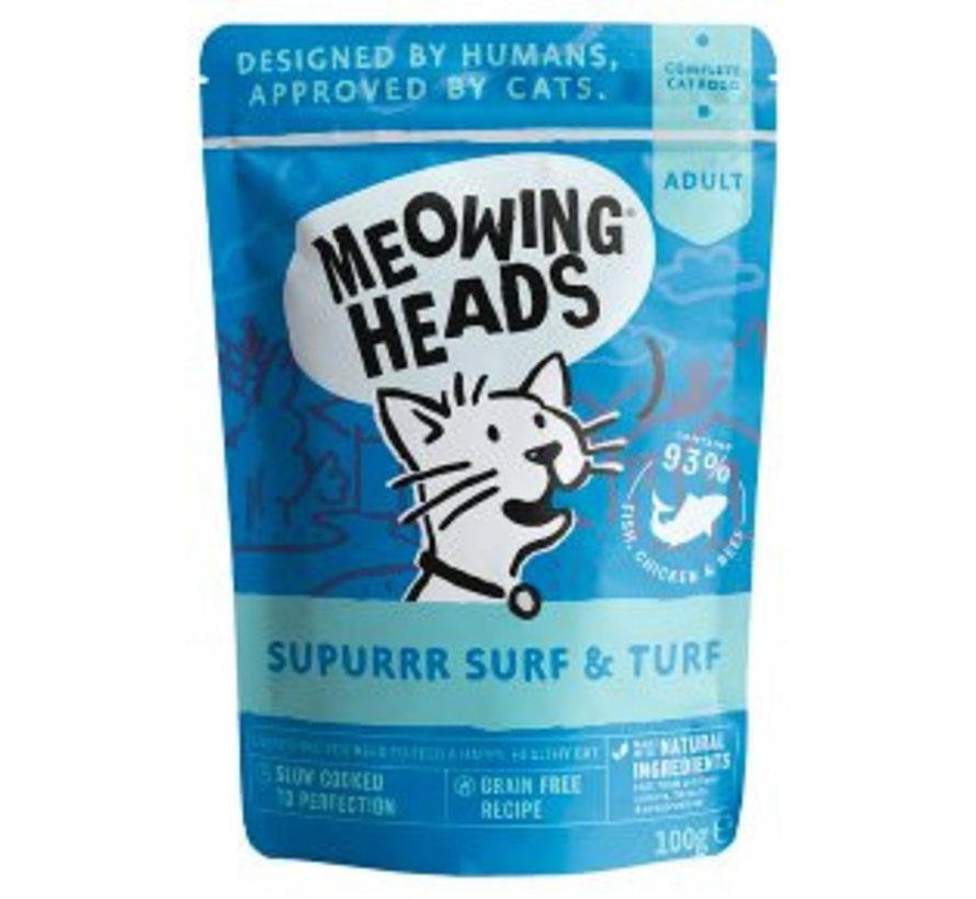 Meowing Heads Wet Surf & Turf 100 gram