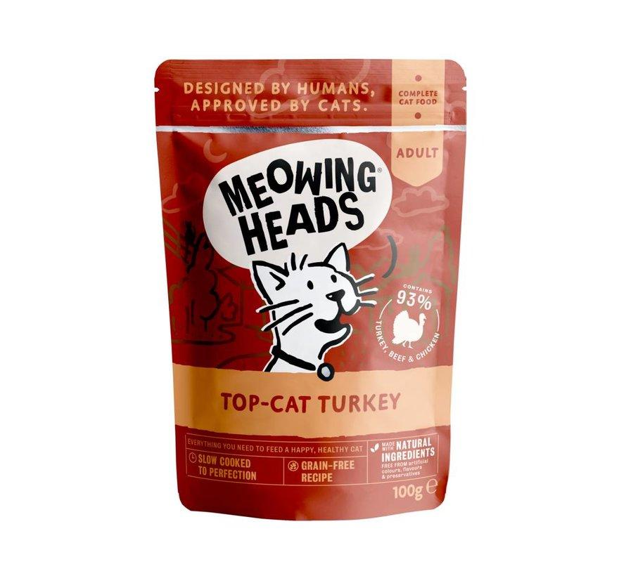Meowing Heads Wet Top Cat Turkey 100 gram