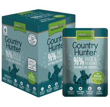 Natures Menu Natures Menu Country Hunter Cat Pouch Eend/Fazant 85 gram