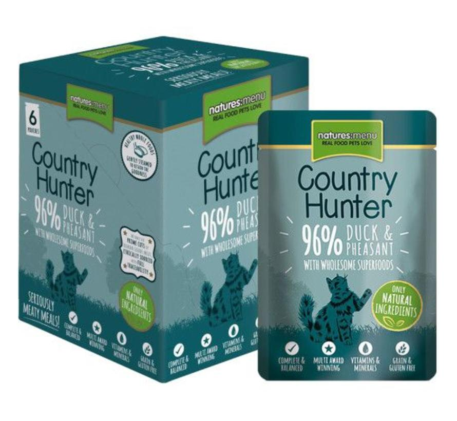 Natures Menu Country Hunter Cat Pouch Eend/Fazant 85 gram