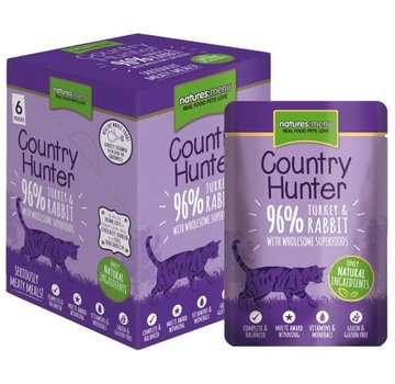 Natures Menu Natures Menu Country Hunter Cat Pouch Kalkoen/Konijn 85 gram