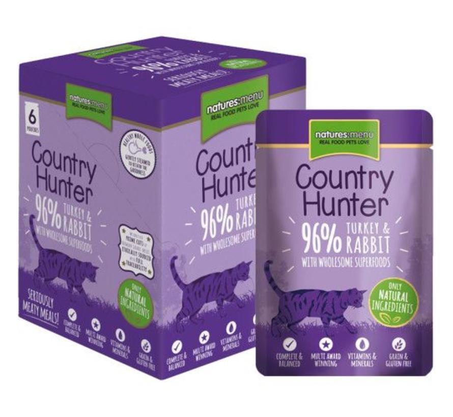 Natures Menu Country Hunter Cat Pouch Kalkoen/Konijn 85 gram
