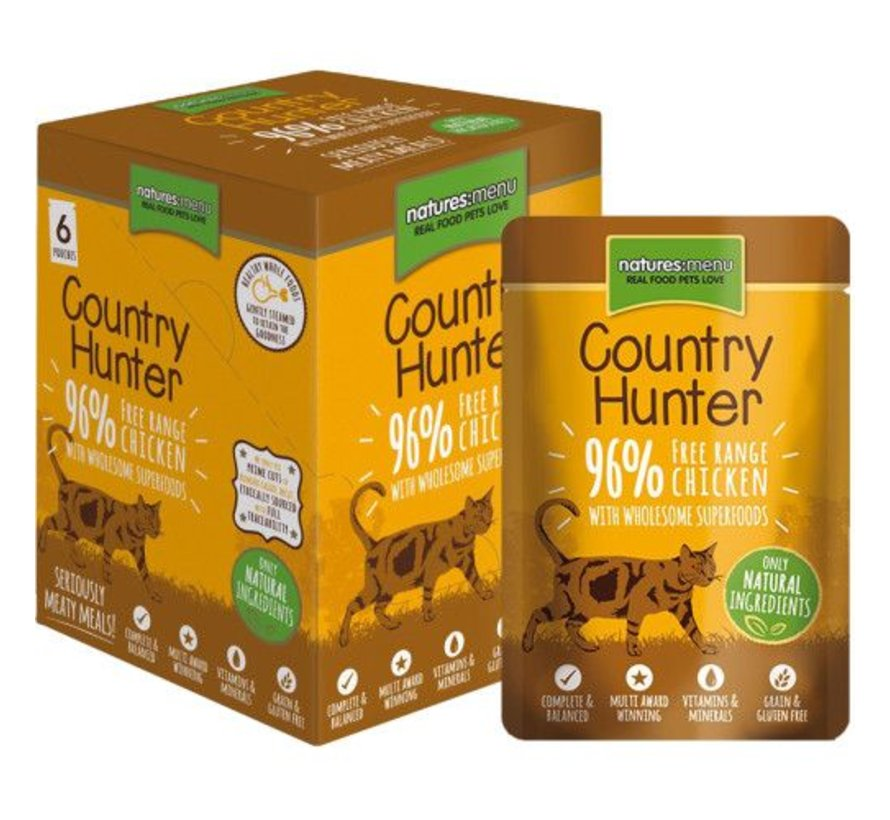 Natures Menu Country Hunter Cat Pouch Kip 85 gram