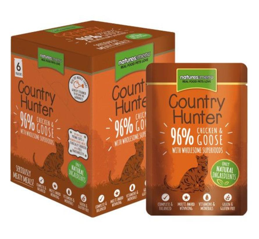 Natures Menu Country Hunter Cat Pouch Kip/Gans 85 gram