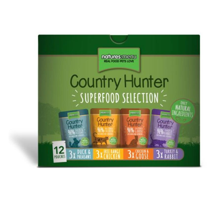 Natures Menu Country Hunter Cat Pouch Multipack 12x85 gram