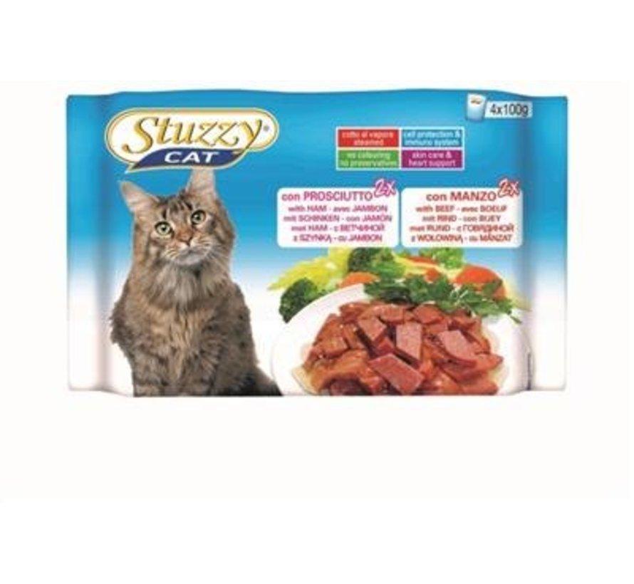 Stuzzy Cat Ham/Rund 4 x 100 gram