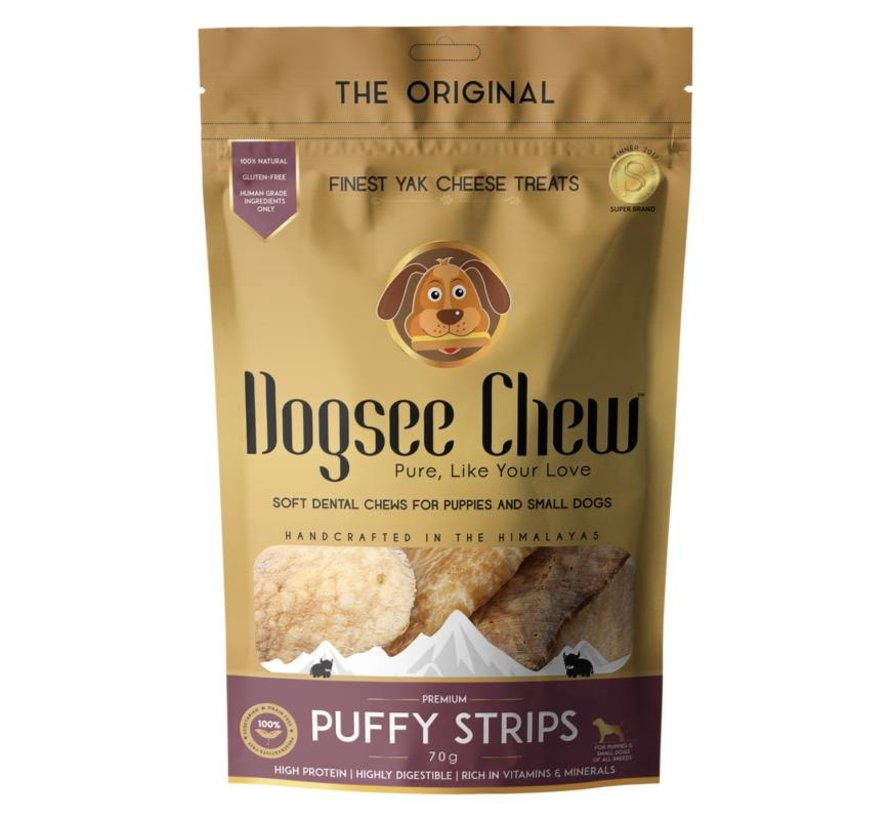 Dogsee Chew Puffy strips 70gr