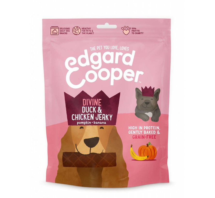Edgard & Cooper Jerky Eend/Kip 150gr