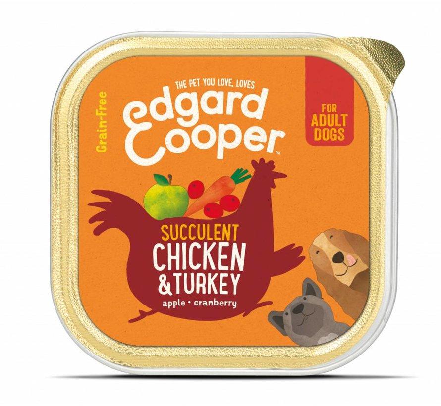 Edgard & Cooper Kuipje Kip & Kalkoen 150gr