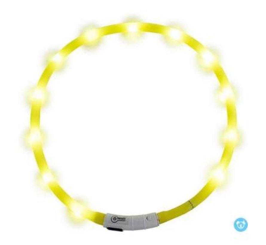 JV LED Halsband Geel