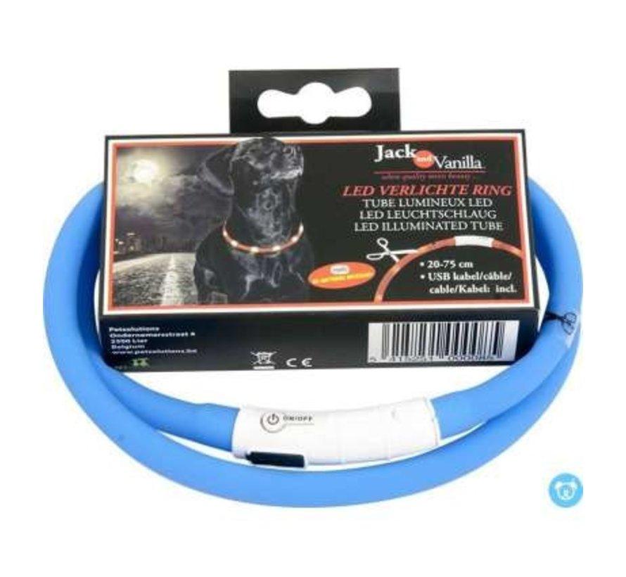 JV LED Halsband Blauw