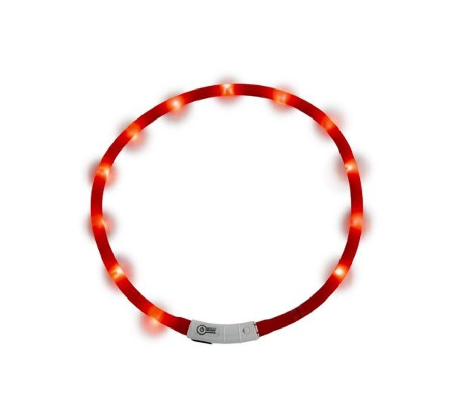 JV LED Halsband Rood