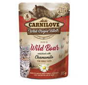 Carnilove in to the wild Carnilove Pouch Kat Kip/Wild Zwijn 85gr