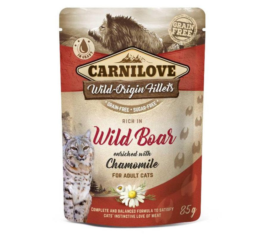 Carnilove Pouch Kat Kip/Wild Zwijn 85gr
