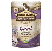 Carnilove in to the wild Carnilove Pouch Kat Kip/Kwartel 85gr