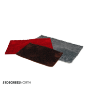 51 Degrees North Clean & Dry Mat XL - Rood
