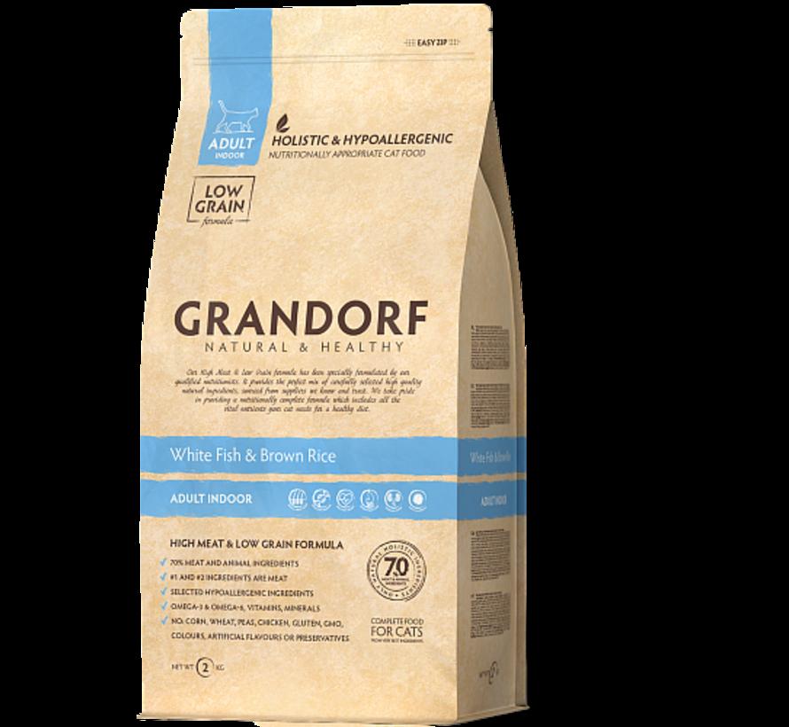 Grandorf Cat Witte Vis & Bruine Rijst Adult 2kg