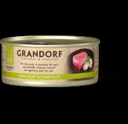 Grandorf Grandorf Cat blik Tonijnfilet & Krabfilet 70gr
