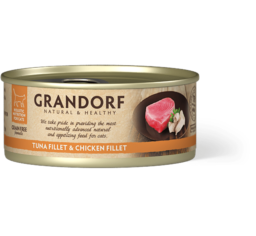 Grandorf Cat blik Tonijnfilet & Kipfilet 70gr