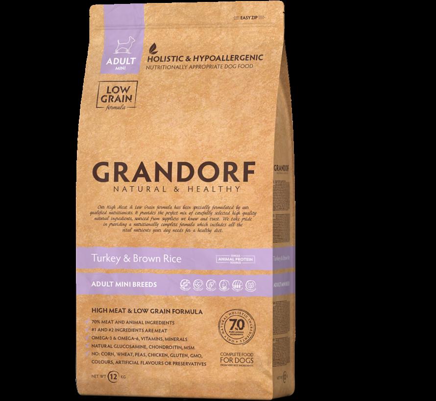 Grandorf Kalkoen & Bruine rijst Adult Small Breed 3kg