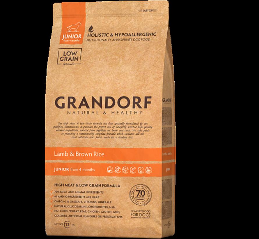 Grandorf Lam & Bruine rijst Junior 3kg