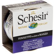 Schesir Schesir Cat 85gr - Tonijn & Rundfilet