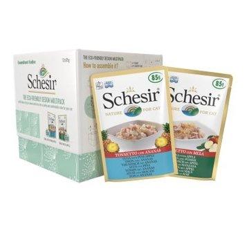 Schesir Schesir Eco-friendly multipack Tonijn/Ananas & Tonijn/Appel