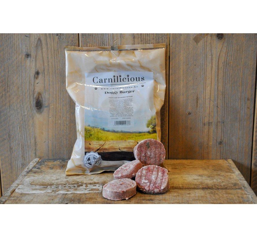 Carnilicious Doggy Burger Paard/Groenten 1 kg