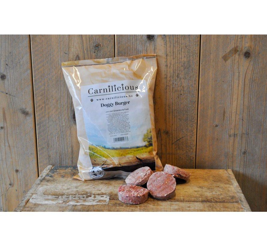 Carnilicious Doggy Burger Lam/Groenten 1 kg