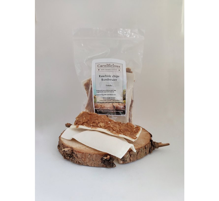 Carnilicious rawhide chips runderuier 5st