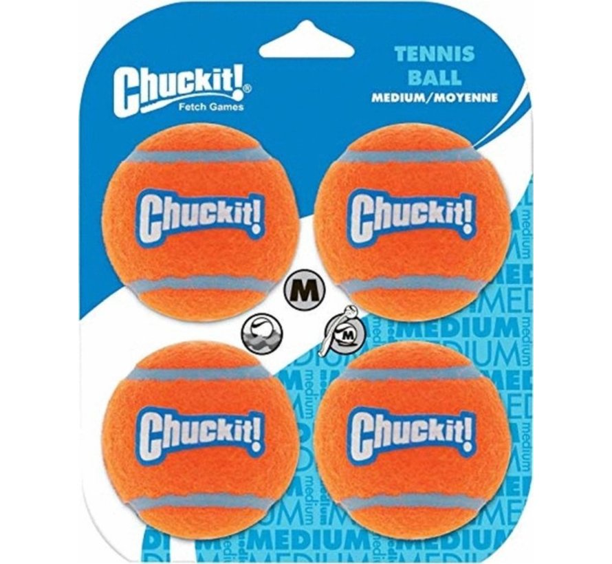 Chuckit Strato Tennis Ball M 4pack