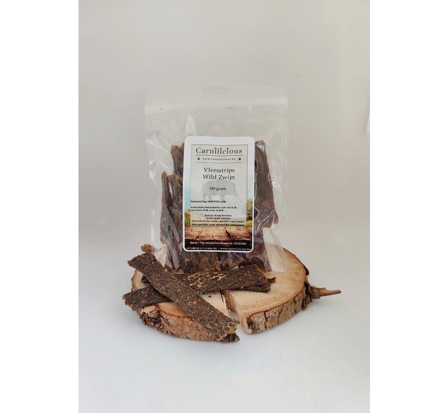 Carnilicious Vleesstrips Wild Zwijn 150 gram