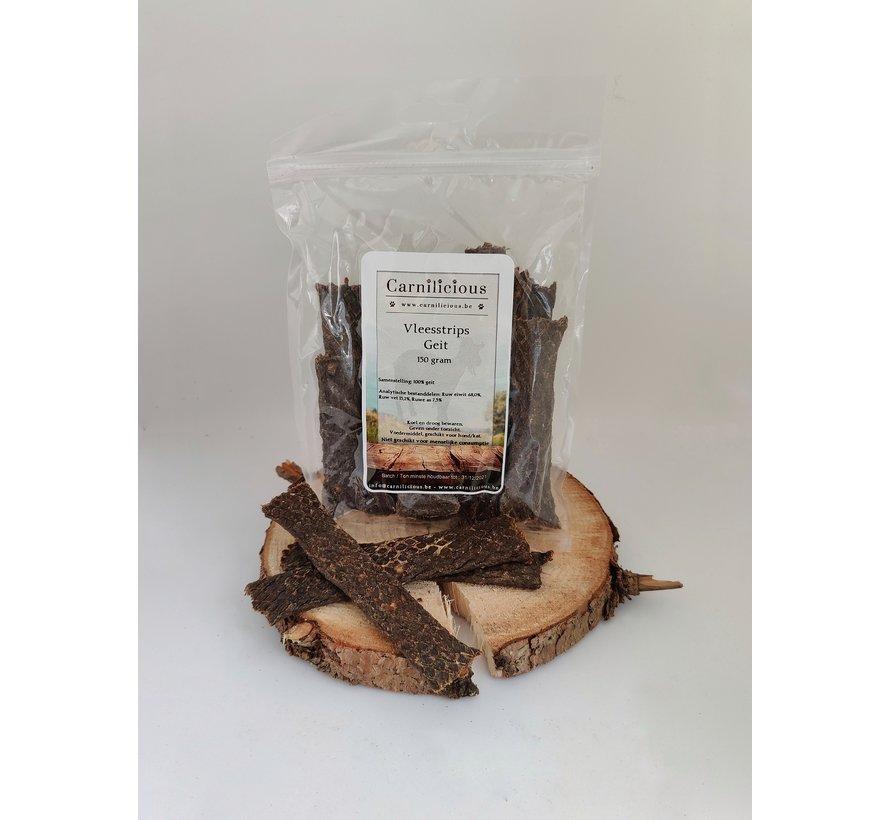 Carnilicious Vleesstrips Geit 150 gram