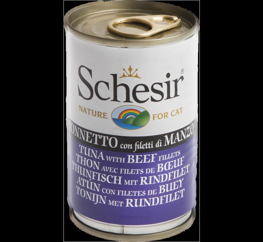 Schesir Cat 140gr - Tonijn & Rund (gelatine)