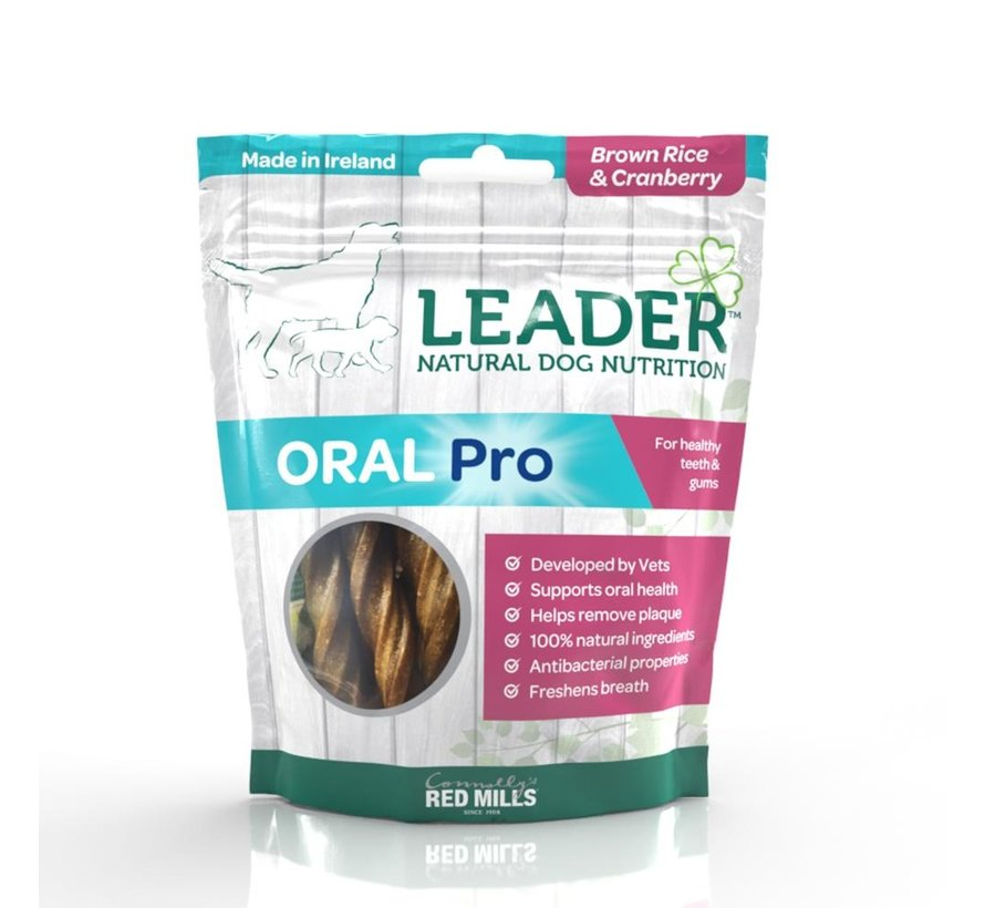 Leader Treats Oral Pro Brown Rice & Cranberry 130gr