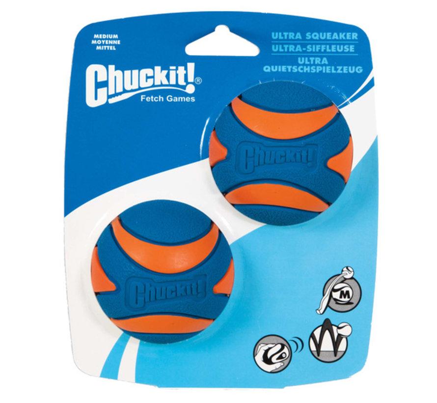 Chuckit Ultra Squeaker Ball M 6cm 2-pack