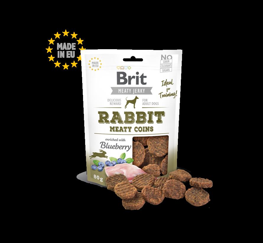 Brit Jerky Rabbit Coins 80gr