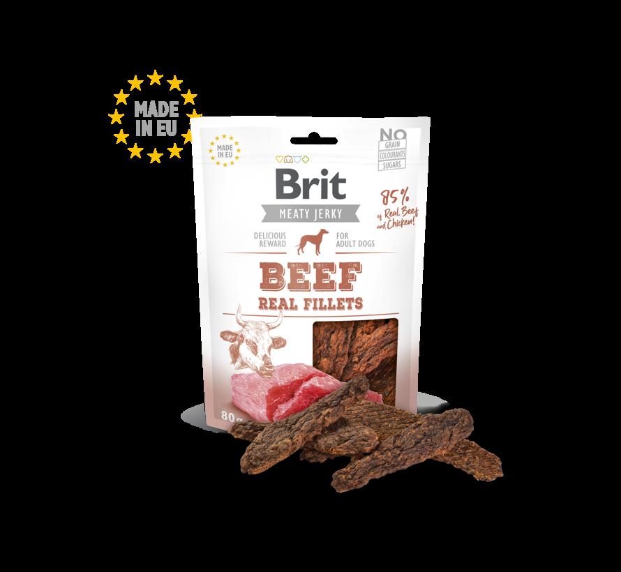 Brit Jerky Beef Fillets 80gr