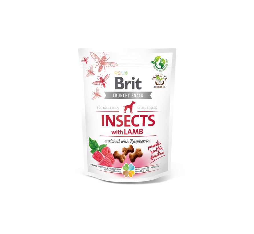 Brit Care Crunchy Insect & Lamb 200gr