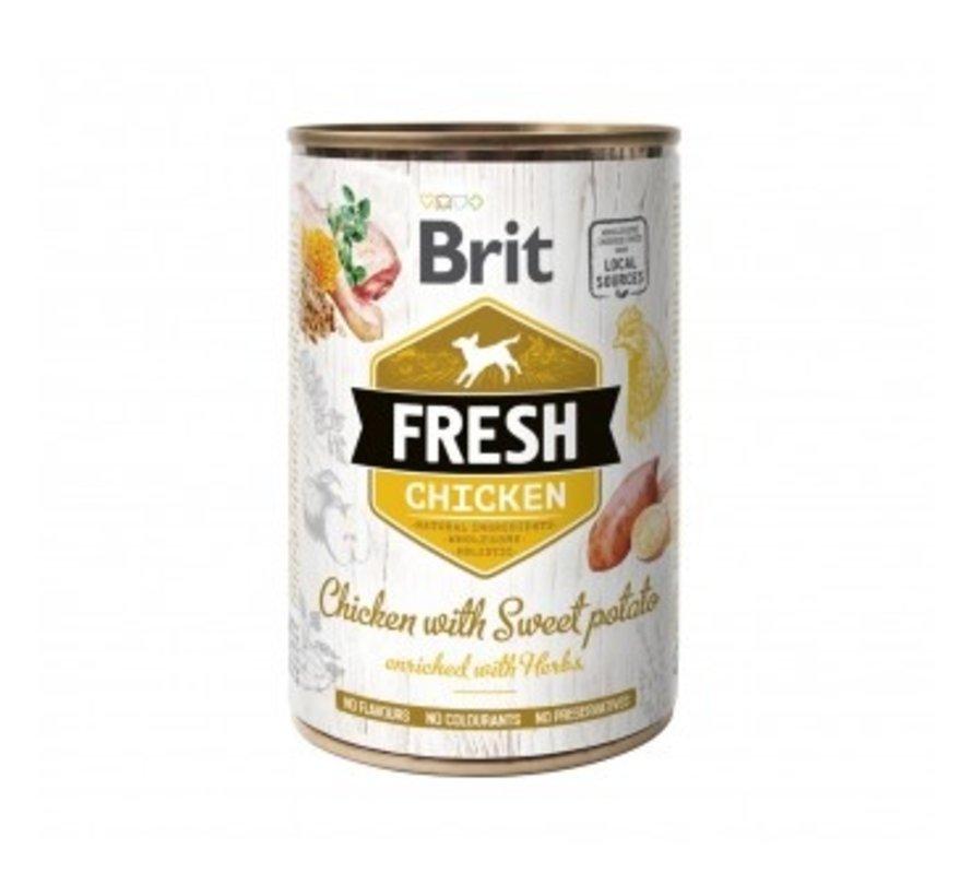 Brit Fresh blik Chicken 400 gr