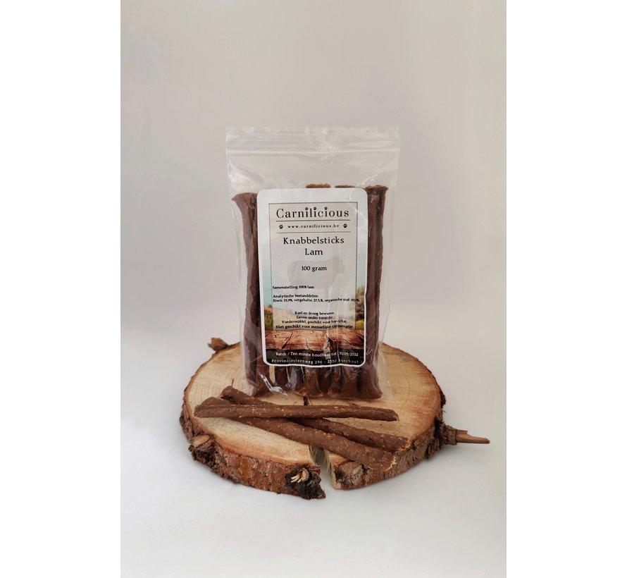 Carnilicious Knabbelsticks Lam 100 gram