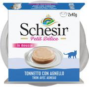 Schesir Schesir Petit Délice Tonijn/lam 2x40gr
