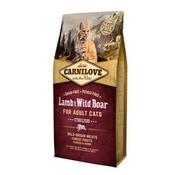 Carnilove in to the wild Carnilove Cat Lam/Zwijn 6 kg