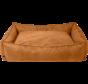 AB Vegan Leather Sofa Cognac L