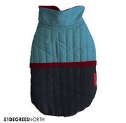 51 Degrees North 51 - Melange Coat Blue 20cm