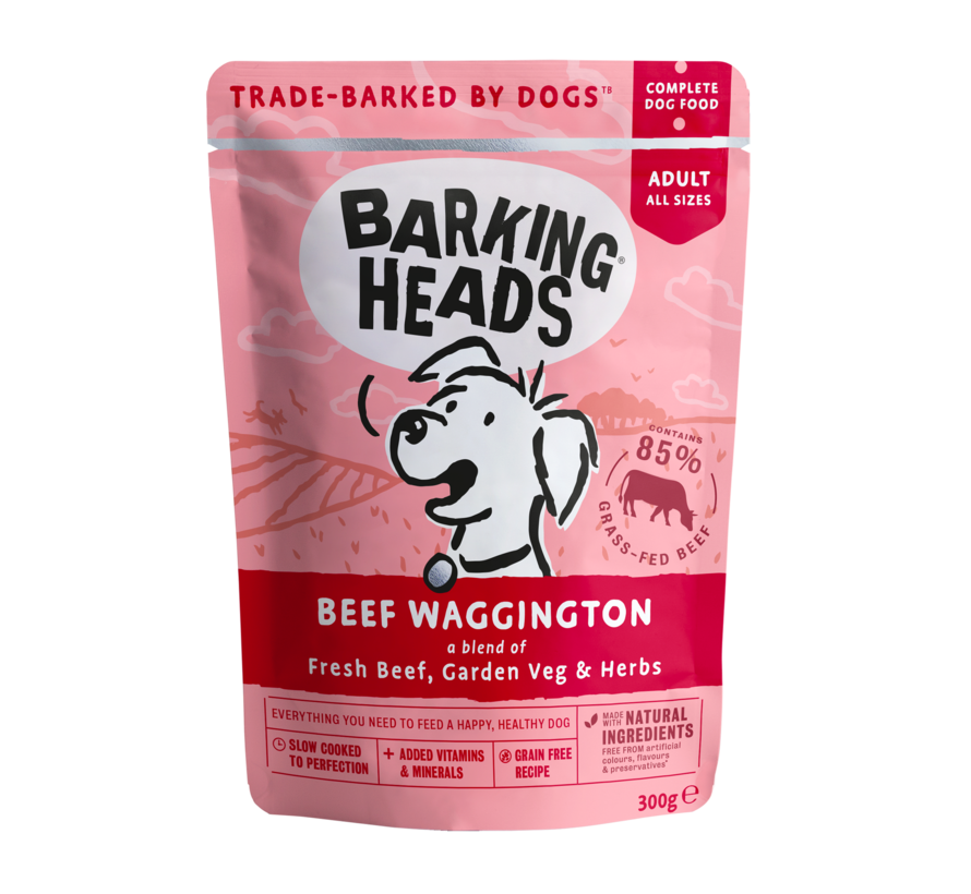 Barking Heads Wet Beef 300 gram