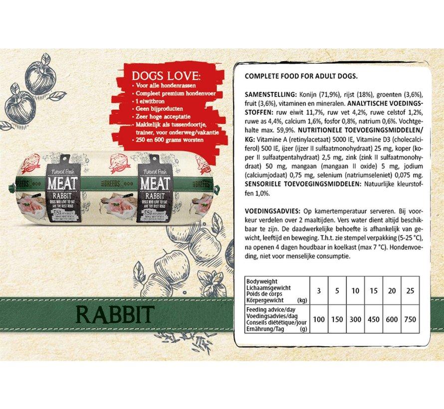 Natural Fresh Meat Konijn 600 gram