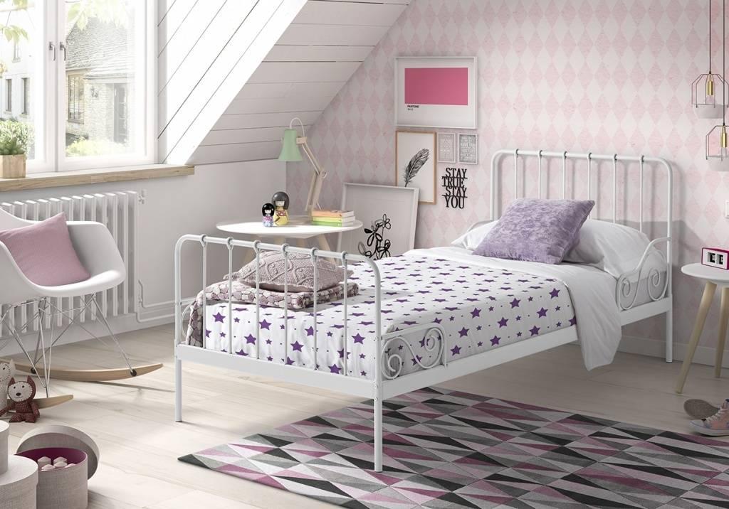 Vipack Eenpersoonsbed Alice (90 x 200) - Wit